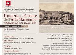 Le fonderie e le ferriere dell'Alta Maremma in mostra a Firenze