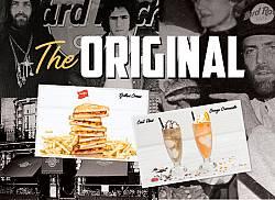 The original Hard Rock Cafe menu: taste the classic!