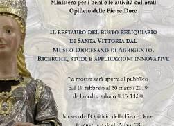 Il restauro del busto reliquiario di Santa Vittoria