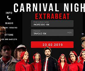 Evento Netflix Carnival Night: Extrabeat - Officina Ikebana
