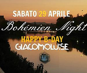 Evento Bohémien Night Happy B-Day Giacomo Luise - Canottieri Comunali