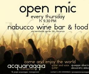 Evento Open Mic Night in Nabucco - Nabucco wine bar