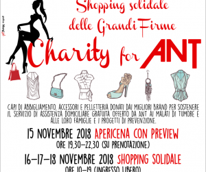 Evento Charity for ANT: Shopping Solidale delle Grandi Firme  - Palazzo Borghese
