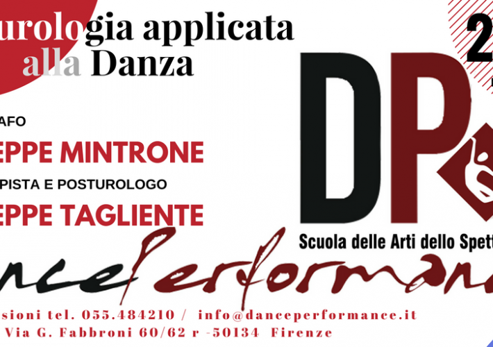 Evento Posturologia applicata alla danza con Giuseppe Mintrone - Dance Performance School