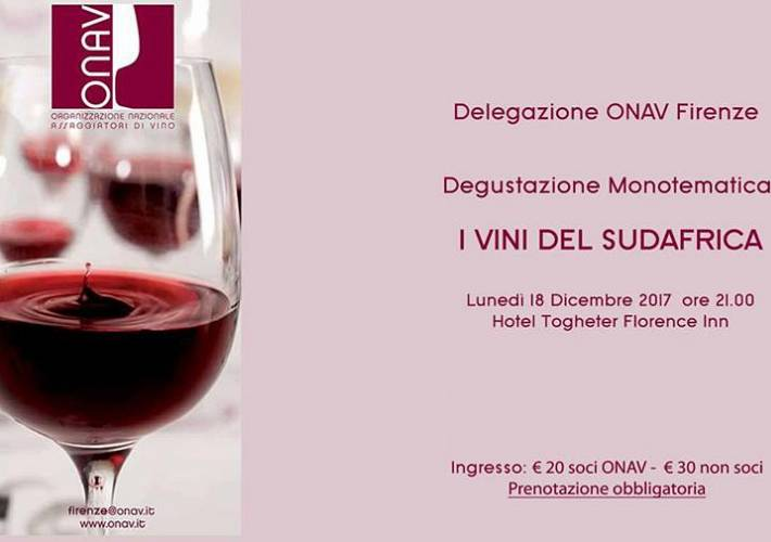 Evento I vini del Sudafrica - Hotel Together Florence Inn