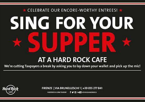Evento Sing For Your Supper - Canta Insieme A Noi! (Live Karaoke) - Hard Rock Cafe