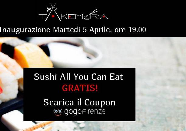 Evento All you can eat GRATIS Takemura / Terminata -