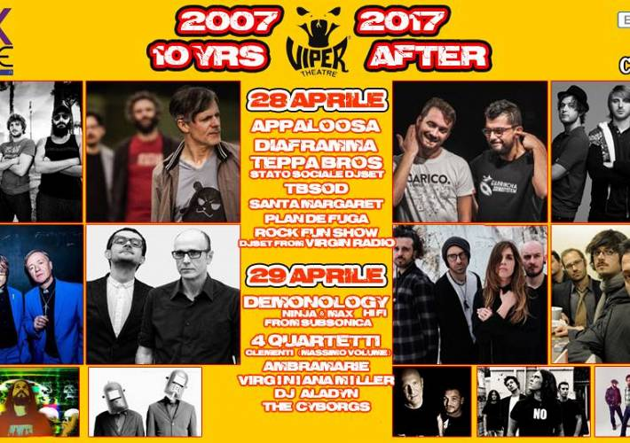 Evento Viper 10 yrs after/w/Appaloosa // Diaframma // Teppa Bros & More - Viper Theatre