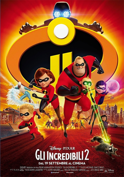 Locabdina film: The Incredibles 2