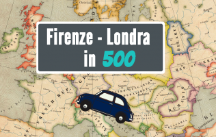 Firenze - Londra: 5 amici e una 500 >> Guarda tutti i video dell'impresa -