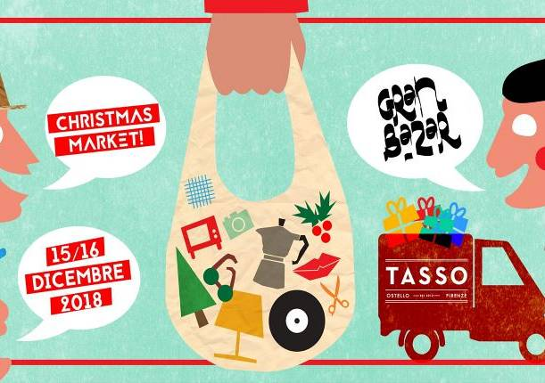 Evento Gran Bazar XMas Market all'Ostello Tasso - Tasso Hostel Firenze