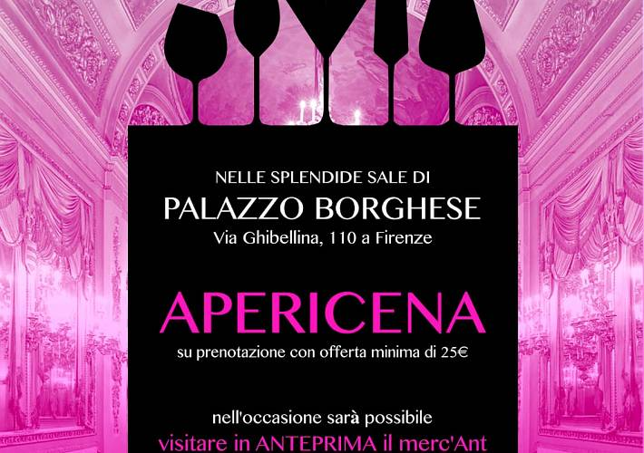 Evento Charity For Ant: Shopping e Apericena solidale - Palazzo Borghese