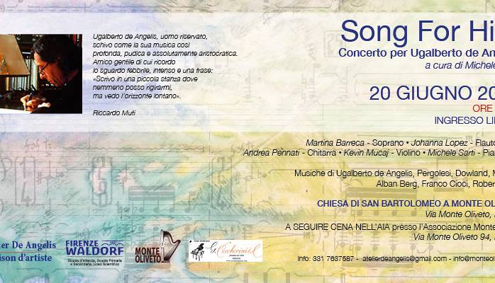 Evento Song for Him - concerto Chiesa di San Bartolomeo a Monte Oliveto
