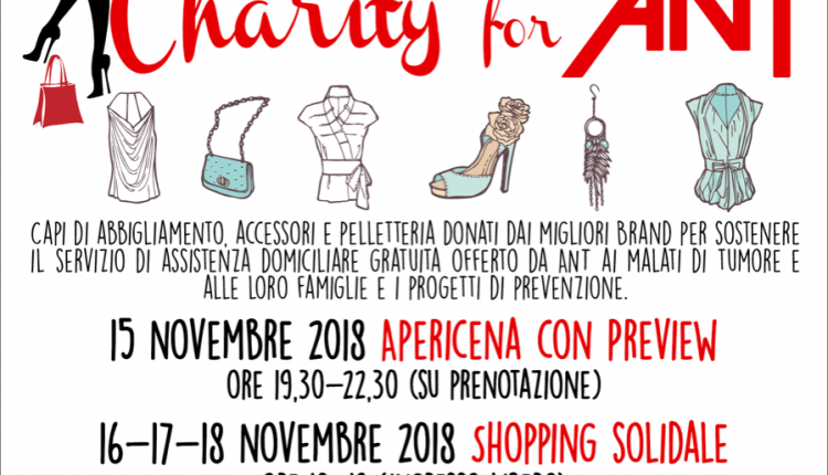 Evento Charity for ANT: Shopping Solidale delle Grandi Firme  Palazzo Borghese